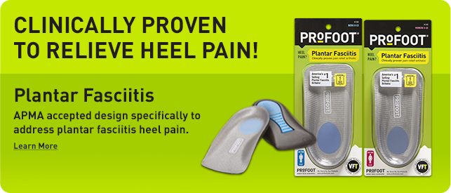 Clinically proven to relieve heel pain! Plantar Fasciitis. APMA accepted design specifically to address plantar fasciitis heel pain.